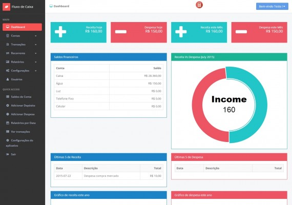 Flow Accounts Box, Transactions, Recurring, Reports Payable and Receivable with User Management